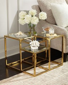 Shop Magnus Multi-Level Side Table from Regina Andrew Design at Horchow, where you'll find new lower shipping on hundreds of home furnishings and gifts. Decor, Furniture Design, Furniture Decor, Creative Furniture, Furniture, Home Furniture, Side Table Decor, Home Decor, Gold Living Room