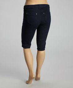 Look what I found on #zulily! Dark Blue Denim Bermuda Shorts - Plus #zulilyfinds