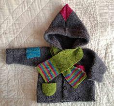 Ravelry: ByAnn's Gry's hoodie - Gry's jakke, modified from Susie Haumann's design. 0-18 months