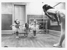 Ballet Classes in Black and White.