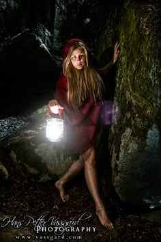 Little Red :) The lantern is lit up by a small external flash unit inside it. Red Riding Hood cape is from SoulRole Eco Essentials.