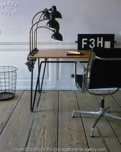 Kaiser Dell lamps. Photo by Nathalie Krag. And the chair! And the desk. And the floor.
