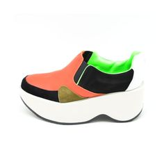 MAISON EUREKA 2015 S/S - LEATHER SLIP-ON / ORANGE