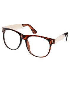 Jeepers Peepers // Vincent Tortoise Clear Lens Glasses