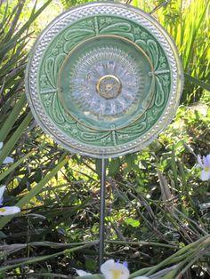 Dragonfly Ceramic Glass Garden Plate. $30.00, via Etsy.