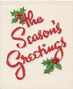 Season's Greetings Vintage Card