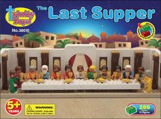 An Easter inspired lego-compatible playset: The Last Supper Building Block Set