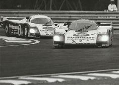 LE MANS 1986 #1 & #2 ROTHMANS PORSCHE 962 BELL STUCK MASS ORIGINAL PHOTOGRAPH