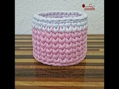 24 Creative Picture of Tshirt Crochet Basket . Tshirt Crochet Basket How To Crochet Round Basket Tshirt Yarn Crochet Round, Easy Crochet, Crochet Hooks, Knit Crochet, Crochet Basket Pattern, Crochet Patterns, Yarn Projects, Crochet Projects, Crochet T Shirts