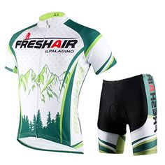Rosybeat Mens Sports Shirts Printing Cycling Jersey and Padded ShortsChest 4525XXLGreen Mountain *** Want additional info? Click on the image.