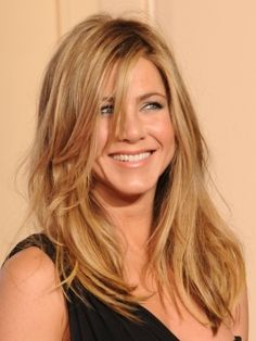 honey blond hair - Ms. Jennifer Aniston. I want this feel with my DARK hair color - very casual, and elegant, yet still so beautiful!!