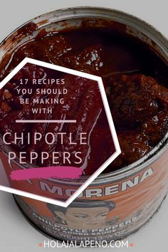 I know you have an opened, half-used can of chipotle peppers in adobo in your refrigerator right now. How do I know? Because I have one too! Here's 17 NEW recipes that will use up that can in no time. From tacos to meatballs you'll love every idea. #chipotlerecipes #chipotlepeppers #chipotleinadobo #cannedchipotles
