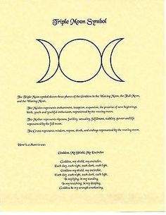 Details about Book of Shadows Spell Pages ** Triple Moon Symbol ** Wicca Witchcraft BOS Goddess Symbols, Moon Symbols, Symbols And Meanings, Moon Symbol Meaning, Symbols Of Love, Hippie Symbols, Witch Symbols, Wiccan Rituals, Wicca Witchcraft