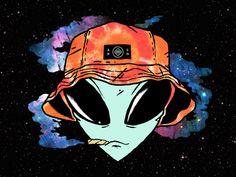 Stay Trippy by Adam Hanson on Dribbble Hipster Drawings, Alien Drawings, Art Drawings, Music Graffiti, Graffiti Art, Pop Art Wallpaper, Cartoon Wallpaper, Alien Aesthetic, City Aesthetic
