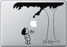 """Smart Decal (TM) Giving Tree Decal - Vinyl Macbook / Laptop Decal Sticker Graphic for 13"""" 15"""" 17"""" MacBook Sticker + Free Wristband Accessory Smart Decal http://www.amazon.ca/dp/B00QQJLXIC/ref=cm_sw_r_pi_dp_Tduivb144VYTF"""
