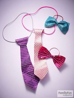 "Win It By a Neck: Turn friends into flashy dressers with these ties. On the back, write a message, such as ""Look sharp, valentine!"""
