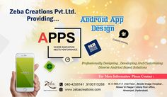 Zeba Creations the best Mobile Application development company in Hyderabad, provides services for custom mobile applications Development world wide. See more @ http://www.zebacreations.com