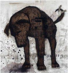 Stéphanie Béliveau (b Canada) - Figures archaïques Dog Portraits, Portrait Art, Dog Sounds, Art Et Illustration, Monochrom, Dog Photography, Animal Paintings, Dog Art, Figurative Art