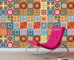 Wanddecoratie Tegels Stickers Talavera Patchwork van wall-decals op DaWanda.com