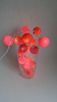 Lichtslinger 20 stuks : Lichtslinger kleur oranje rood roze