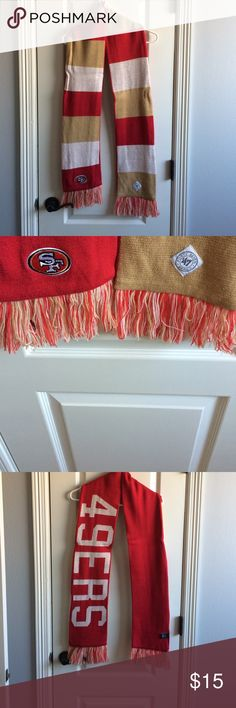 49ers reversible scarf 49ers reversible scarf. Only worn once. Red, white, and gold/tan Accessories Scarves & Wraps