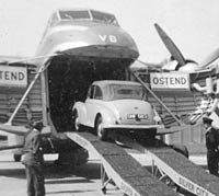 Morris Minor boarding