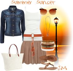 """""""Summer Sunset"""" by jenniemitchell on Polyvore"""