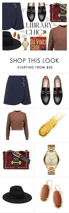 """Library Chic #2"" by marionicole ❤ liked on Polyvore featuring TIBI, DKNY, Prada, Michael Kors and Kendra Scott"