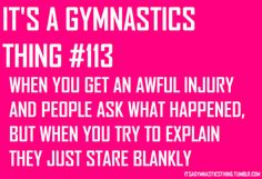 I broke my finger and my foot in gymnastics and this was exactly how I felt. Gymnastics Problems, Gymnastics Workout, Olympic Gymnastics, Olympic Games, All About Gymnastics, Gymnastics Stuff, Gymnastics Crafts, Amazing Gymnastics, Gymnastics Pictures