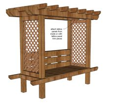 Ana White   Build a Outdoor Bench with Arbor   Free and Easy DIY Project and Furniture Plans