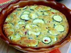 Zucchini-Shallot-Roasted Red Pepper Pie from NoblePig.com