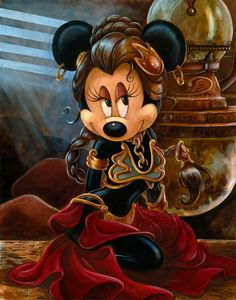 Minnie Mouse Slave Leia