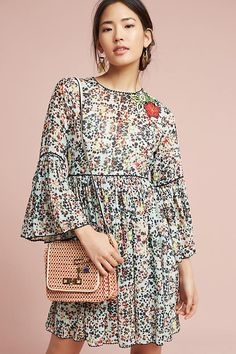 Slide View: 3: Libra Embroidered Tunic Dress
