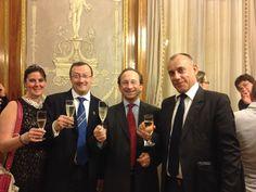 Mme et M. Jean Michel Trohay - Charles Philipponnat - Sylvain Le Floch (Directeur du Protocole de Nice Cote d'Azur)