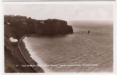 #Teignmouth woodlands - steam railway #train - c1920s real #photo devon postcard,  View more on the LINK: 	http://www.zeppy.io/product/gb/2/182423916079/
