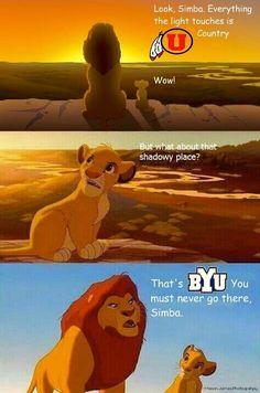 Lion King Utah-BYU rivalry joke