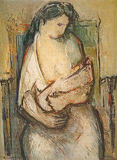 Maternidade 1952 | Manabu Mabe óleo sobre tela, c.i.e. 100.00 x 73.00 cm