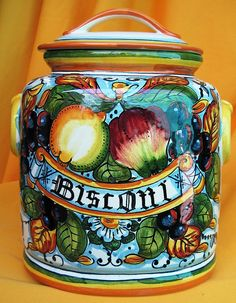 "Florence Collection- Frutta Biscotti Jar 11"" h. (F032) by Bellini Italian Art Gallery, via Flickr"
