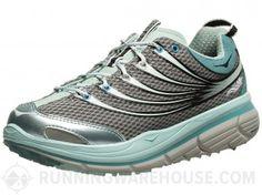 HOKA ONE ONE Kailua Trail Women's Shoes Grey/Light Blue, $70 on sale, 9.3 oz.