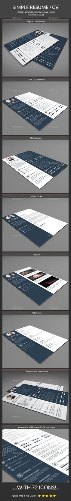 Simple Resume Simple resume, Simple resume template and Template - simple resume letter