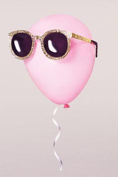 looking cool, balloon. // Karen Walker sunglasses