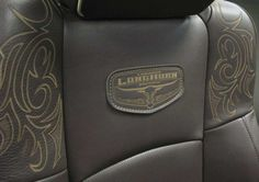 Dodge Ram Laramie Longhorn 2011 Limited Edition - I love the tooling on this leather seat!