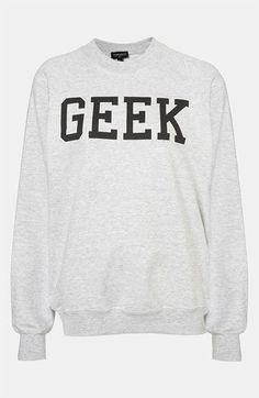 Topshop 'Geek' Sweatshirt | Nordstrom