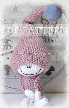 * This is a PDF crochet pattern and not the finish item. This pattern incluses instruction for: -The basic doll -A lovely long tail pixie hat -A