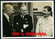 orig. WK2 PK FOTO - Deutsch-sowjetischer Nichtangriffspakt Aug. 1939 - Stalin