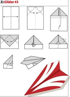 DIY Paper Planes - Collection of 12 great tutorials on how to make some badass planes from paper. Improve your origami skill and make a great paper plane! Best Paper Airplane Design, Paper Airplane Steps, Paper Airplane Book, Paper Airplane Folding, Best Paper Plane, Origami Paper Plane, Paper Airplane Models, Instruções Origami, Origami Ball