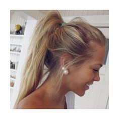 Ponytail Hairstyles Pictures Ponytail Haircut Photos Women Hairstyles... ❤ liked on Polyvore featuring men's fashion, men's grooming, hair and hair styles