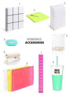 BRIGHT MODERN SCHOOL & OFFICE SUPPLIES via XO PIXEL
