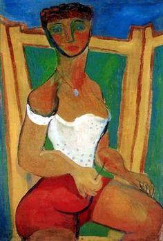 Self-portrait in Bathing Suit , 1939 , by Margit Anna - Cd Paintings National Gallery, Moving To Paris, Tempera, Budapest, Anna, Graphic Design, Portrait, Artist, Modern Paintings