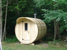 This little sauna brings with it a barrel of savings and health benefits. Named for its shape, the cedar Barrel Sauna comes in an assemble-yourself kit...